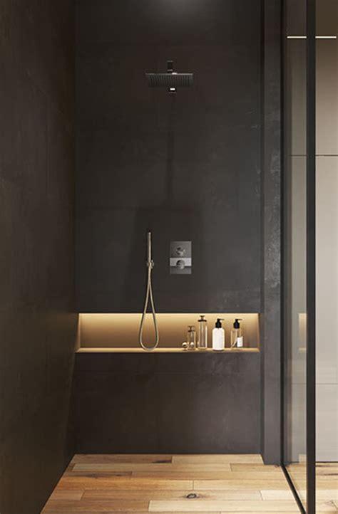 modern shower niche  lighting ideas homemydesign