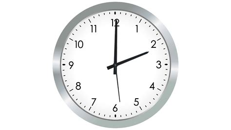 Analogue Silver Clock With Fast Moving Hands Motion