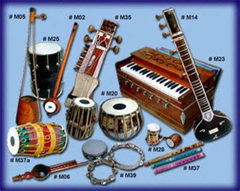 Sound values on instruments & gear. Music Information: Indian Music Instruments