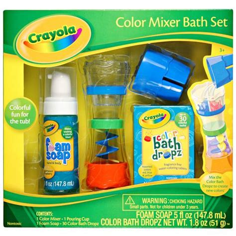 crayola bathtub fingerpaint soap set crayola 174 color mixer set make bath time more than