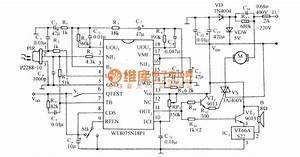 The Automatic Door Control Circuit Diagram With Infrared