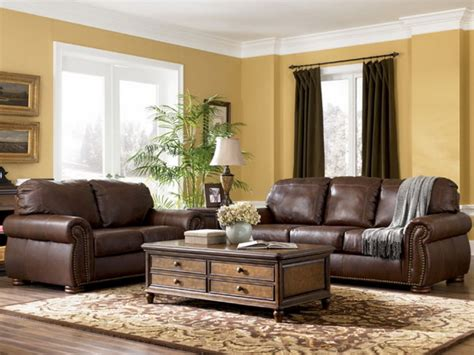 affordable modern couches living room with brown leather