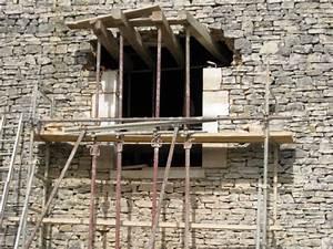 maconnerie creation des ouvertures renovation d39une With comment faire un linteau de porte
