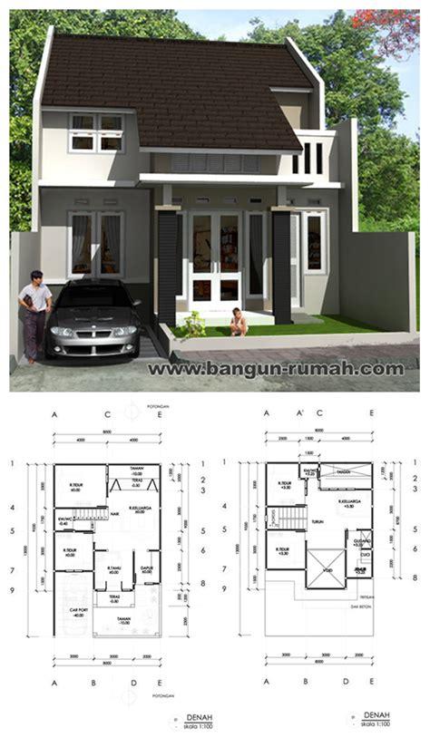 desain rumah  lantai ukuran tanah     desain