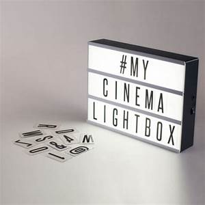 The 2016 gift guide for women for Cinema light box letters