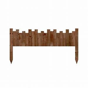 Bordure De Jardin Bois : bordure f licia en bois fsc x cm forest ~ Premium-room.com Idées de Décoration
