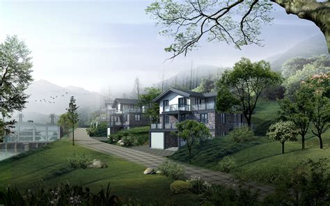 beautiful village hd wallpaper