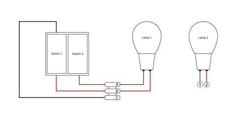 connecting a double switch to 2 seperate lights diynot