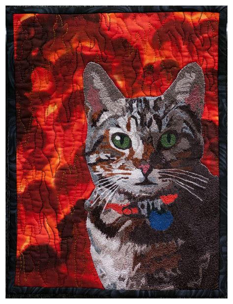 vermont quilt festival best machine embroidery alikin s alley cat by jodi