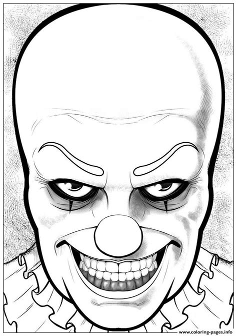 pennywise  jeffrey  curtis coloring pages printable