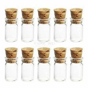 Glasflaschen Mit Korken : 10x niedlichen mini glasflaschen mit korken wishing flasche phiolen jars 22x11mm ebay ~ Orissabook.com Haus und Dekorationen