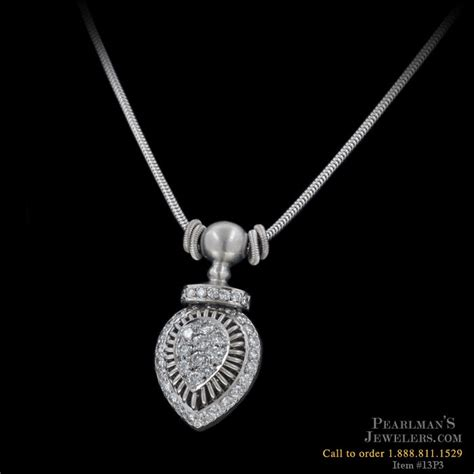 Michael B Jewelry Platinum And Diamond Pendant
