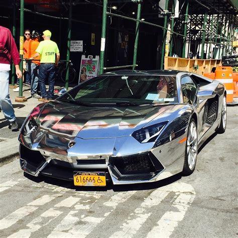 Chrome Lamborghini Aventador Lp 700-4 In New York