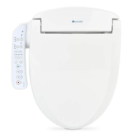 heated bidet toilet seat shop brondell white plastic elongated heated bidet toilet seat at lowes
