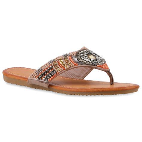 sandalen mit strass und perlen zehentrenner damen strass sandalen perlen sommer schuhe