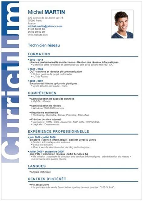 Modèle Cv Professionnel 2016 by Resume Format Mod 232 Le Cv 233 T 233