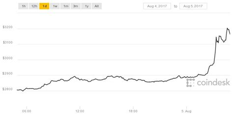 bitcoin price surges    hit  time high