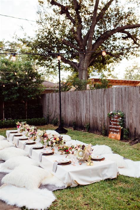 A Bohemian Backyard Dinner Party  Camille Styles