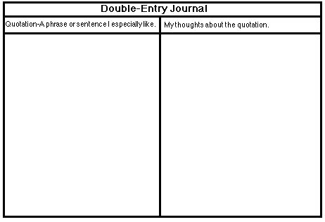 Double Entry Journal Template For Word