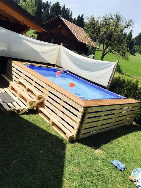 Mit Paletten Bauen by Swimmingpool Aus Paletten Anleitung Pool Selber Bauen