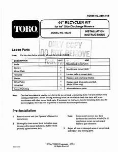 Toro Recycler Kit  44 U0026quot  Side Discharge Mower Attachment