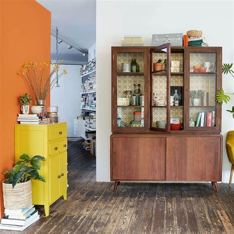 mobili ingresso maison du monde mobile da ingresso a 2 ante e 3 cassetti giallo senape