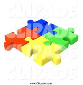 Interlocking Puzzle Pieces Clip Art