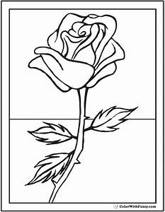 Simple Rose Bud Coloring Pages