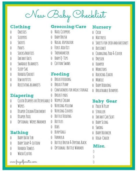 Baby Checklist  Free Printable  Number 2 Will Be Here In May!  Pinterest  Baby Checklist