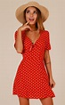 Hit Or Miss dress in red polka dot | Showpo