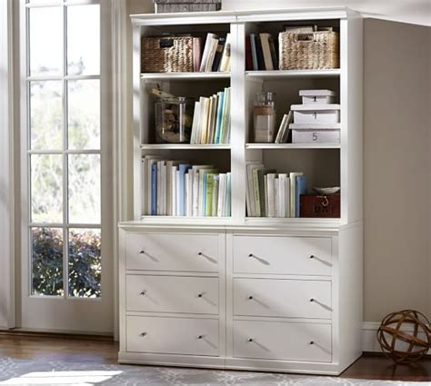Wide Bookcase With Drawers by Logan Bookcase With Drawers Antique White In 2019
