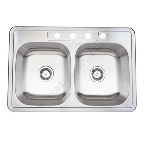 overmount stainless steel sink stainless steel overmount sink double bowl 18g equal bowls