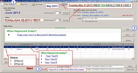 diary format template word 2013 word diary template creator information and download of