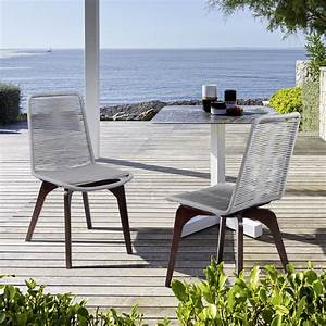 Island, Outdoor, Patio, Silver, Rope, Dining, Chair, In, Earth, Finish, -, Set, Of, 2, -, Walmart, Com