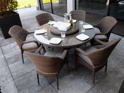 table de jardin ronde 216 120cm plateau verre tremp 233 r 233 sine tress 233 e