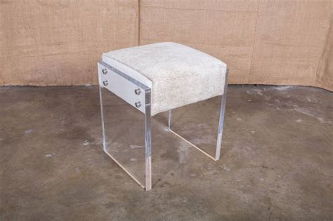 Acrylic Chair For Vanity by Coco Lucite Vanity Stool For Sale At 1stdibs