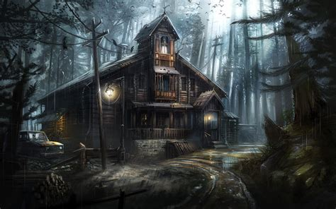 Background Haunted House by Haunted House Hd Wallpaper Background Image 1920x1200