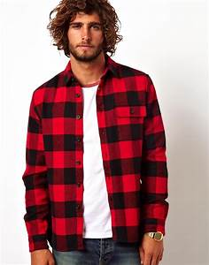 lyst asos buffalo check overshirt in red for men With chemise femme carreaux rouge