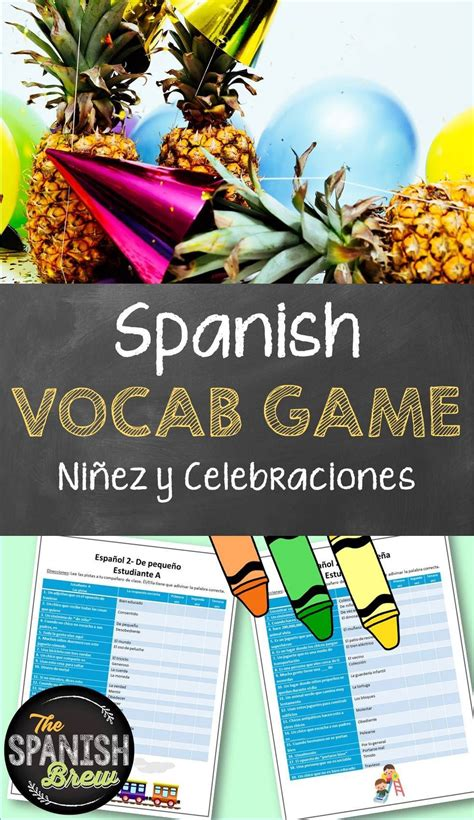 spanish  vocabulary game  childhood  celebrations