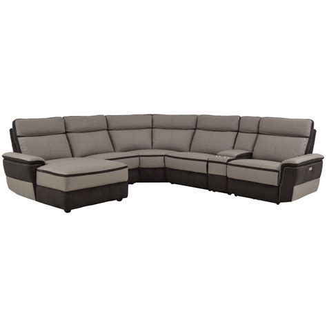 power reclining sectional sofa with chaise homelegance laertes contemporary power reclining sectional