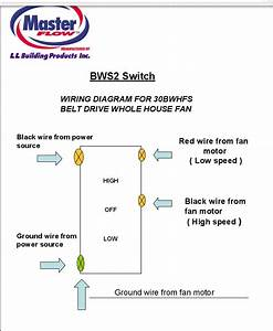33 2 Speed Whole House Fan Switch Wiring Diagram