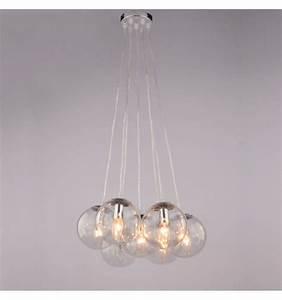 Suspension Luminaire En Verre Transparent : suspension boules en verre 7 verres transparents septua ~ Teatrodelosmanantiales.com Idées de Décoration
