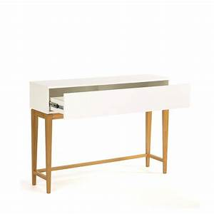 Console Avec Tiroir Meuble Entree : console 1 tiroir scandinave blanco ~ Preciouscoupons.com Idées de Décoration