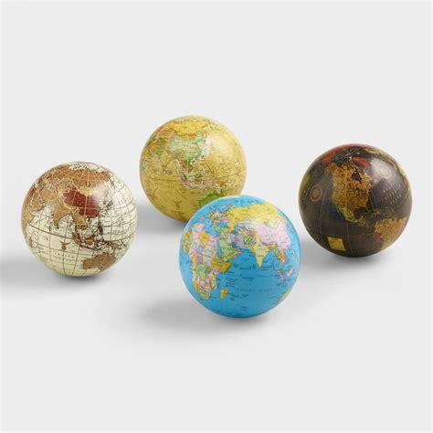 globe set sphere globes set of 4 world market