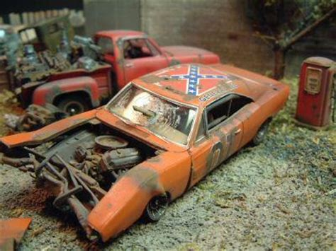 dukes  hazzard mopar wrecks scale