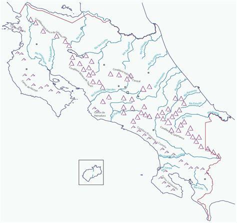 Mapa Hidrografico De Costa Rica | Atlas map, Map, World map