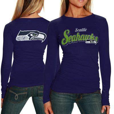 seattle seahawks ladies team pride long sleeve blue