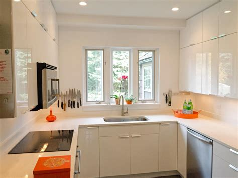 china white wall countertops for small kitchens pictures ideas from hgtv