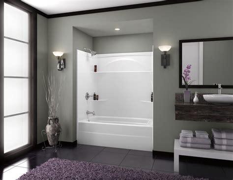 piece tub shower left drain al