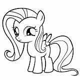 Coloring Fluttershy sketch template